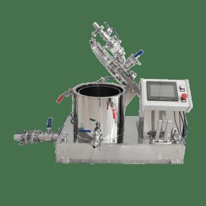 Hanging bag top discharge centrifuge