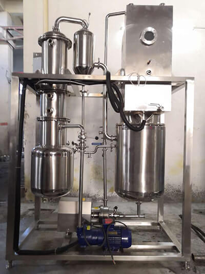 Application of falling film evaporator