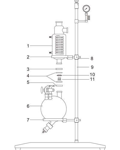 Receiving flask installation drawing