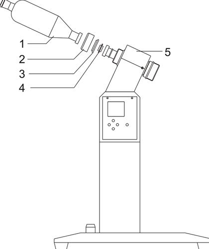 Three-way flask installation drawing