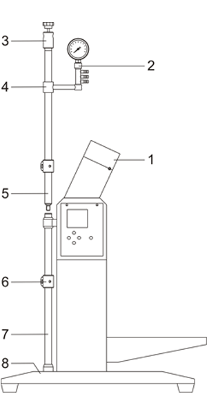 Upright pipe installation drawing
