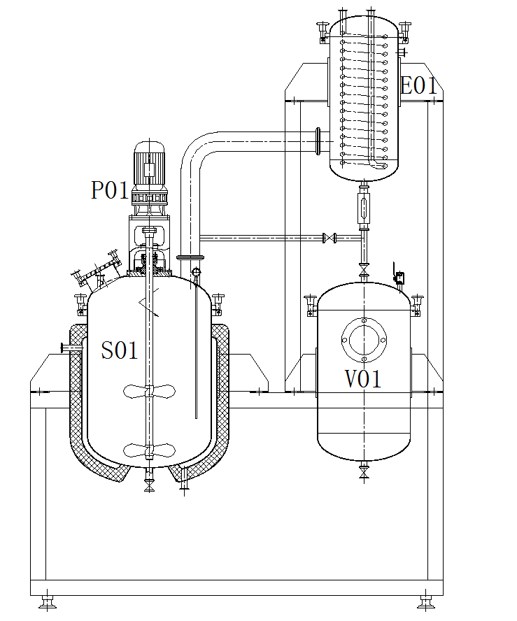 Structure-diagram-of-stainless-steel-decarboxylation-reactor