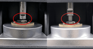pressure regulating nut is equipped
